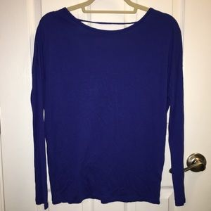 Old Navy Relaxed Scoop-Back Long Sleeve Top